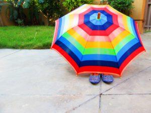 Paraplu's met logo